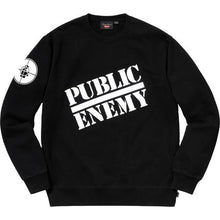 Load image into Gallery viewer, Supreme®/UNDERCOVER/Public Enemy Crewneck Sweatshirt Black