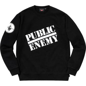 Supreme®/UNDERCOVER/Public Enemy Crewneck Sweatshirt Black