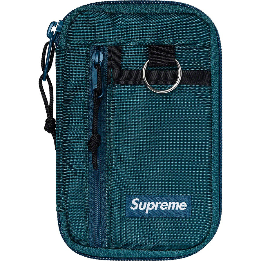 Supreme FW19 Small Zip Pouch Teal