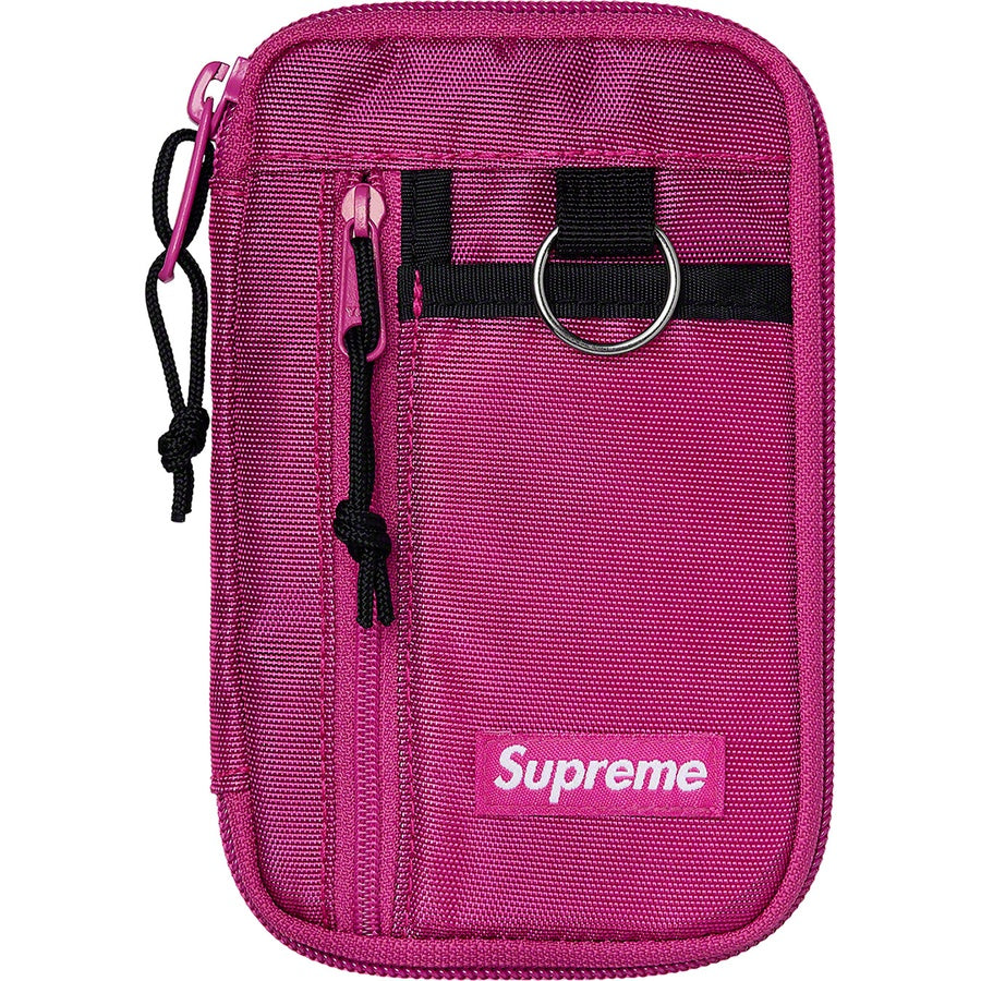Supreme FW19 Small Zip Pouch Pink