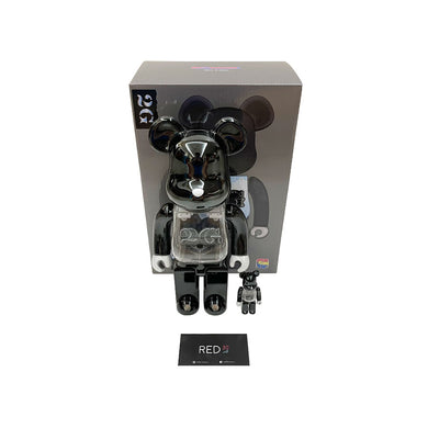 Medicom Toy X 2G (With Light) Bearbrick Chrome Black