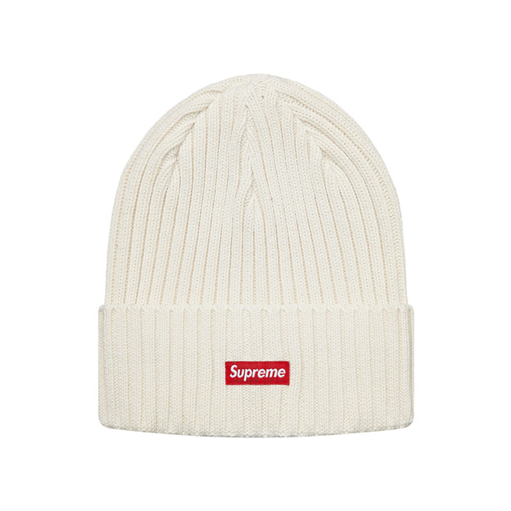 Supreme Overdyed Ribbed Beanie SS18 Washed Ivory