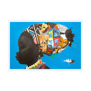 "Hebru Brantley's ""Darker Than The Color Of My True Love's Hair"" Limited Ed Print"