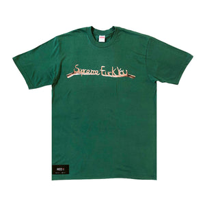 Supreme Fuck You Tee Dark Green