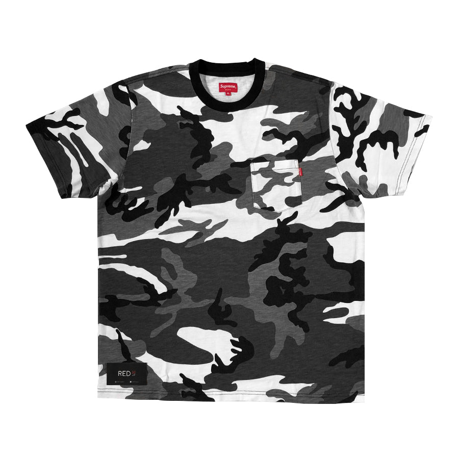 Supreme S/S Pocket Tee Snow Camo