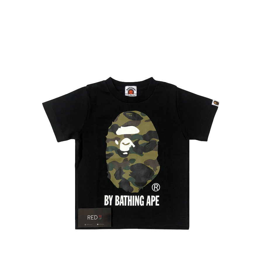A Bathing Ape Kids 1st Camo Tee Black