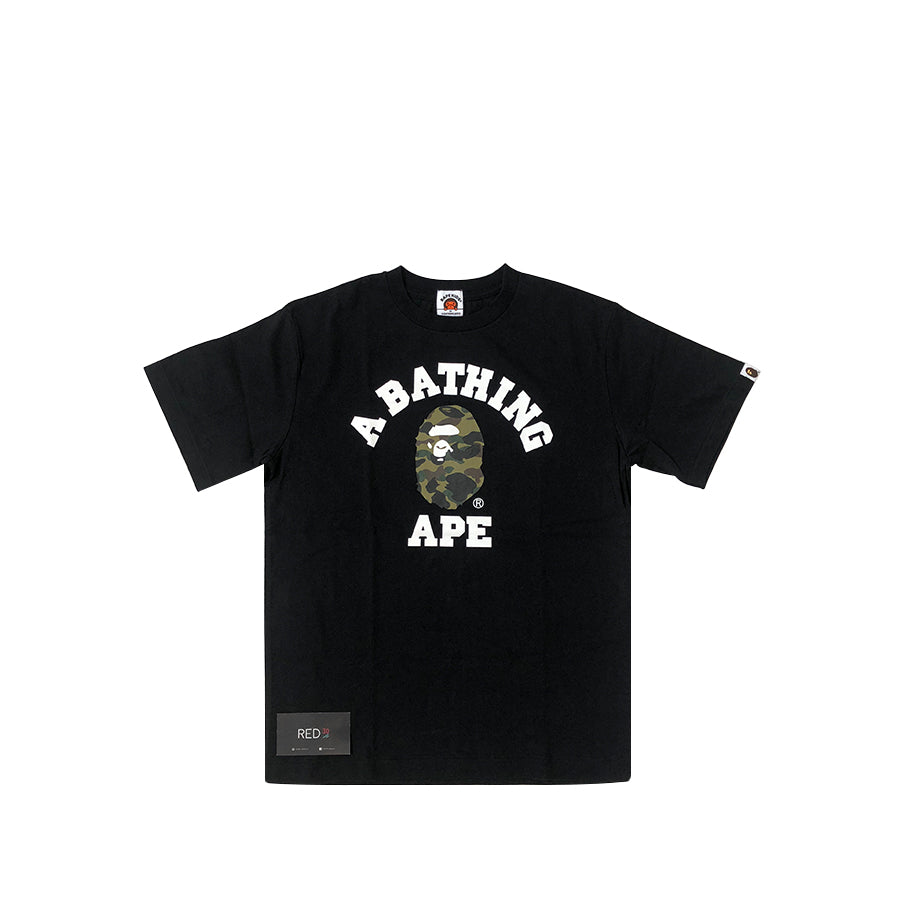 A Bathing Ape Kids College Tee Black