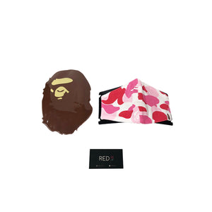A Bathing Ape Camo Mask Pink Camo