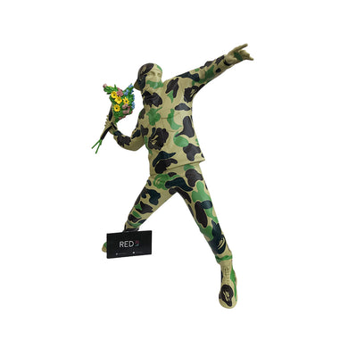 Medicom Toy X A Bathing Ape Brandalism Flower Thrower