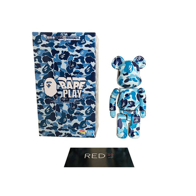 Medicom Toy A Bathing Ape ABC Camo Chogokin 200% Bearbrick Blue Camo
