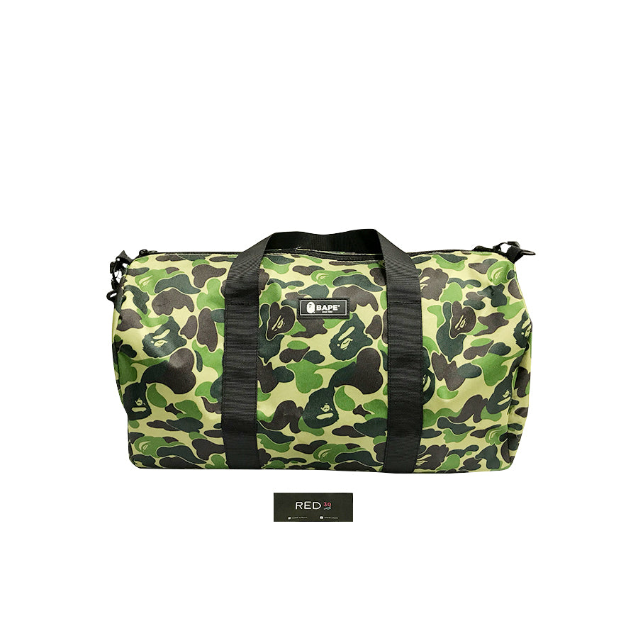 A Bathing Ape Camo Duffle Bag