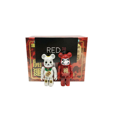 Medicom Toy X A Bathing Ape Maneki Neko And Daruma Set 100% Bearbrick