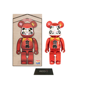 Medicom Toy Daruma 400% Bearbrick Red Plated