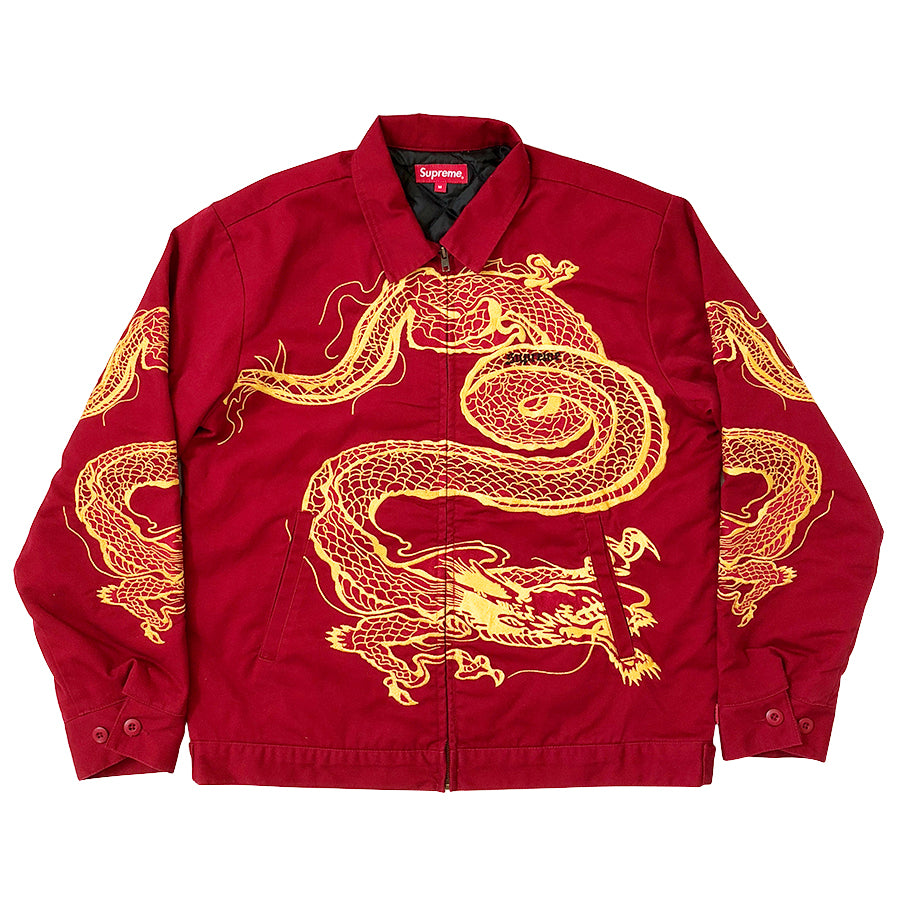 Supreme Dragon Work Jacket Red