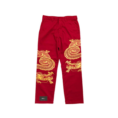 Supreme Dragon Work Pant Red