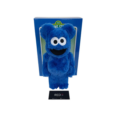 Medicom Toy Sesame Street Cookie Monster (With Fur) 400% Bearbrick