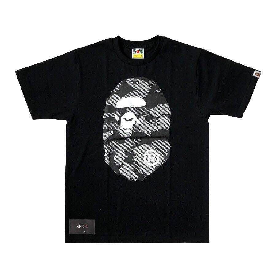 A Bathing Ape Reflective Camo Tee Black