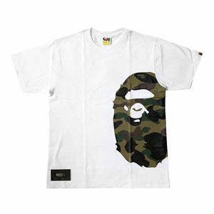 A Bathing Ape 1st Camo Side Logo Tee White