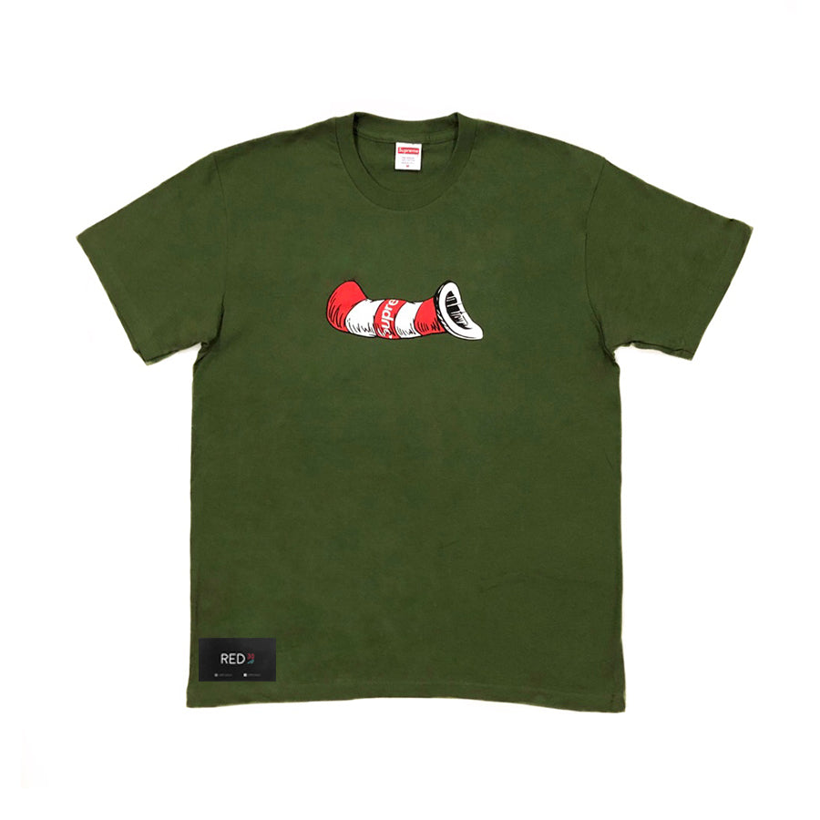 Supreme Cat In The Hat Tee Olive