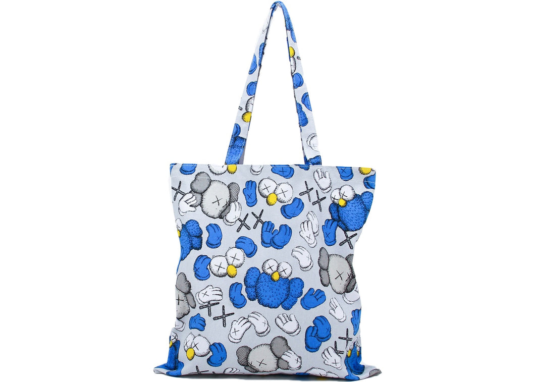 Kaws Seeing/Watching Pattern Tote Bag Grey