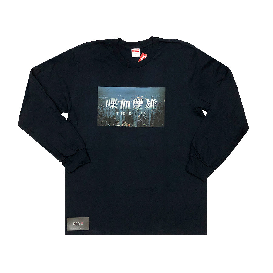 884c94a51891 Load image into Gallery viewer, Supreme The Killer Long Sleeve Tee Navy ...