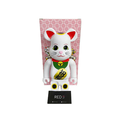 Medicom Toy Maneki Neko Bearbrick White