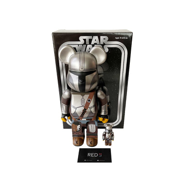 Medicom Toy Star Wars Mandalorian 400% + 100% Bearbrick