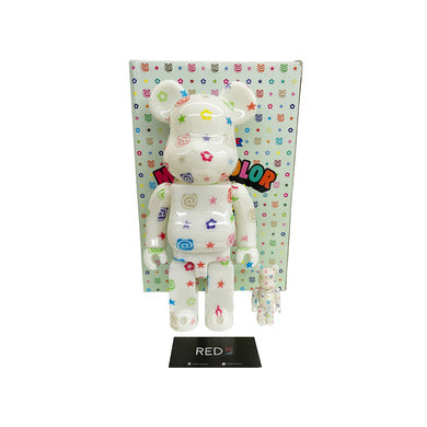 Medicom Toy Glow In The Dark Multi Color 400% + 100% Bearbrick
