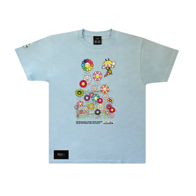 Murakami X YZ Flower Tee Light Blue