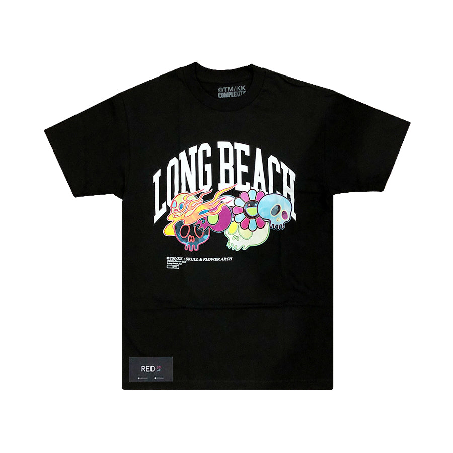 Murakami X Complex Con 2018 Skull and Flower Arch Tee Black