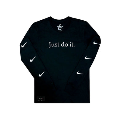 Nike L/S Embroidery logo Tee Black