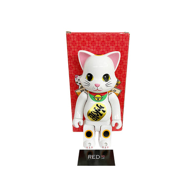 Medicom Toy Maneki Neko (千萬兩) (White) (Green Collar) 400% Ny@brick