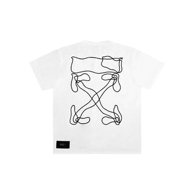 Off White Abstract Arrows S/S Tee White