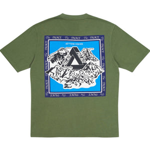 Palace Getting Higher Tee Army Green
