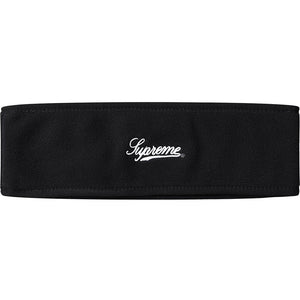 Supreme Polartec Logo Headband Black