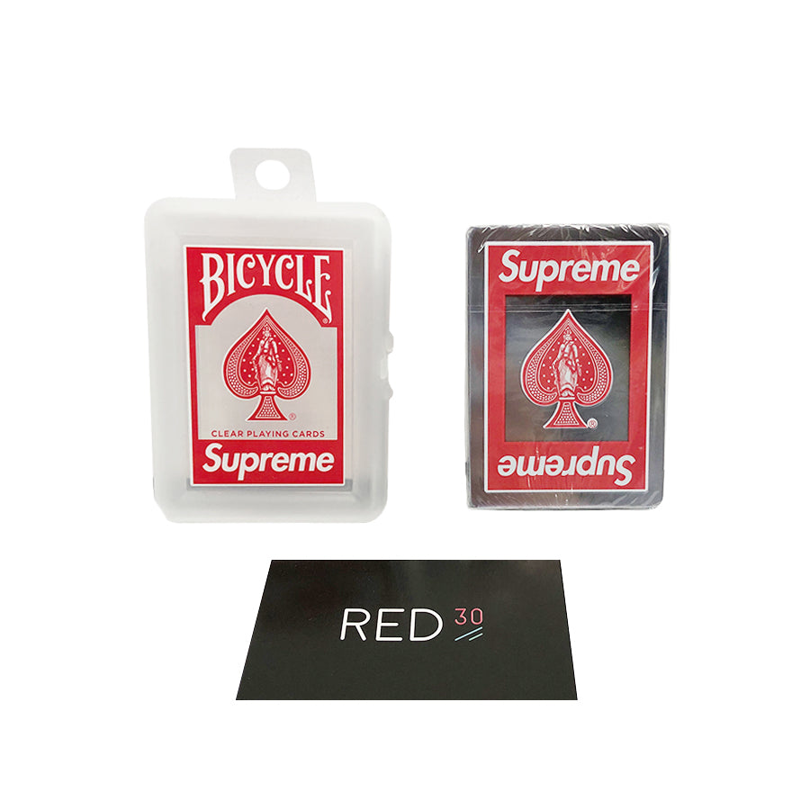 Supreme Bicycle Clear Playing Cards