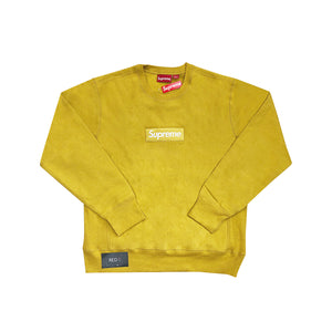 Supreme Box Logo Crewneck Mustard Yellow