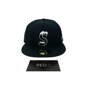 Supreme S Logo New Era Cap Black