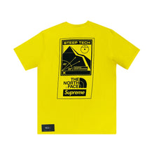 Load image into Gallery viewer, Supreme The North Face Steep Tech Tee Yellow