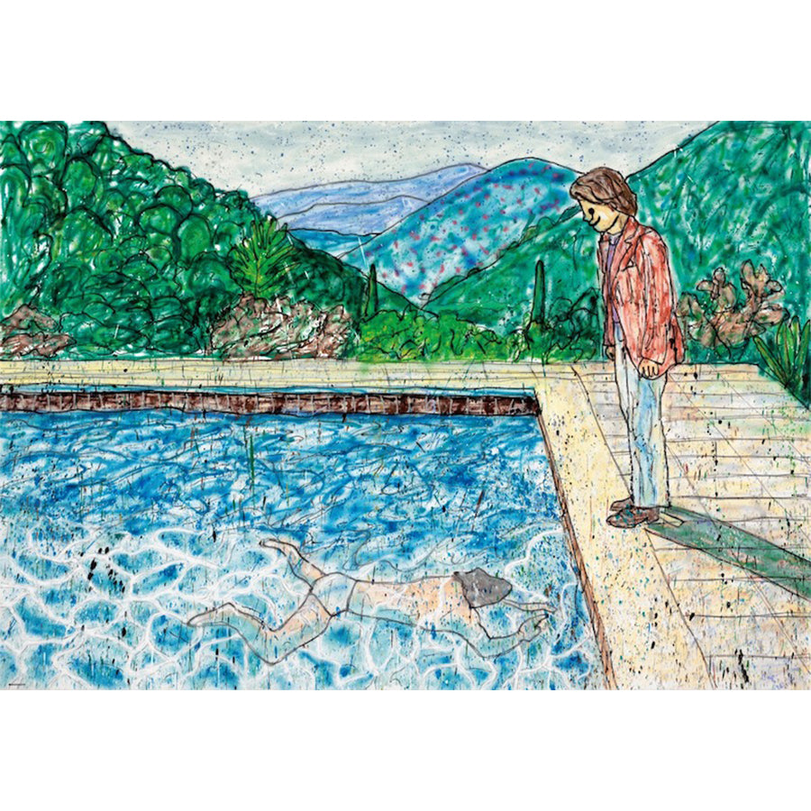 Madsaki - Pool with Two Figures, 2020