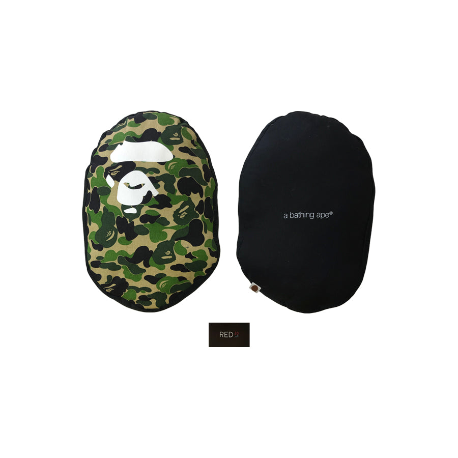 A Bathing Ape ABC Head Plush Green Camo