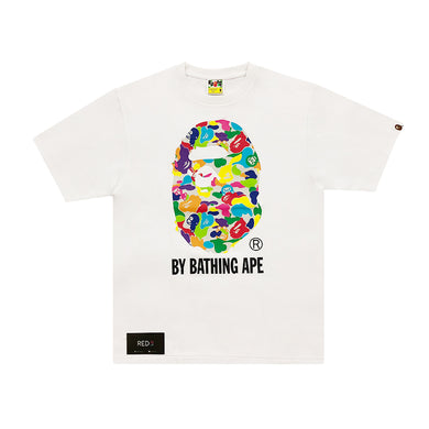 A Bathing Ape Multicolor Camo By A Bathing Ape Tee White