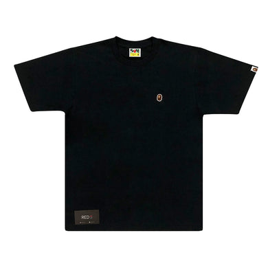 A Bathing Ape Embroidery One Point Tee Black
