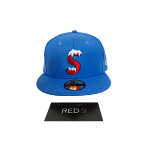 Supreme S Logo New Era Cap Blue