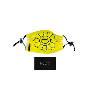 Murakami Flower Mask Lemon Yellow (Black)
