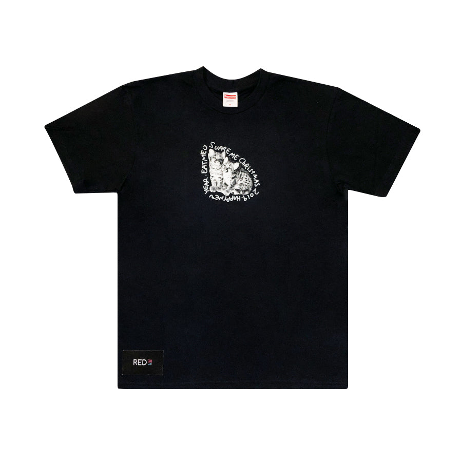 Supreme Eat Me 2019 Christmas Tee Black