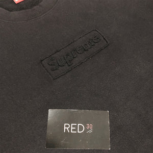 Supreme Cutout Box Logo Crewneck Black