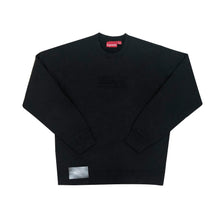 Load image into Gallery viewer, Supreme Cutout Box Logo Crewneck Black