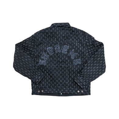 Supreme Hole Punch Denim Trucker Jacket Black