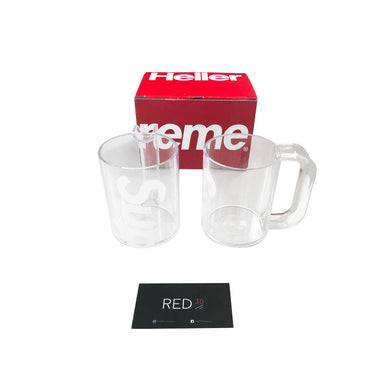 Supreme Heller Mugs (Set of 2) (Clear)